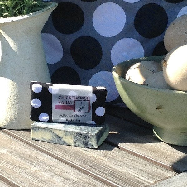 Activated Charcoal Face Bar Goat Milk Soap-Soap-Chickenmash Farm