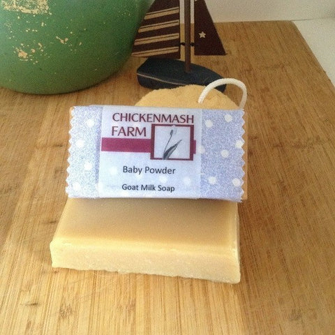 Baby Powder Goat Milk Soap - Chickenmash Farm