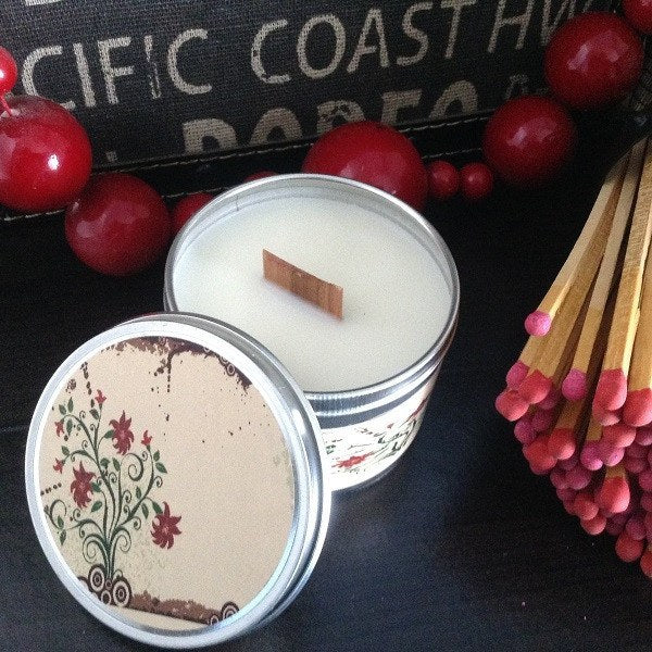 Stress Relief Wooden Wick Soy Candle-Chickenmash Farm