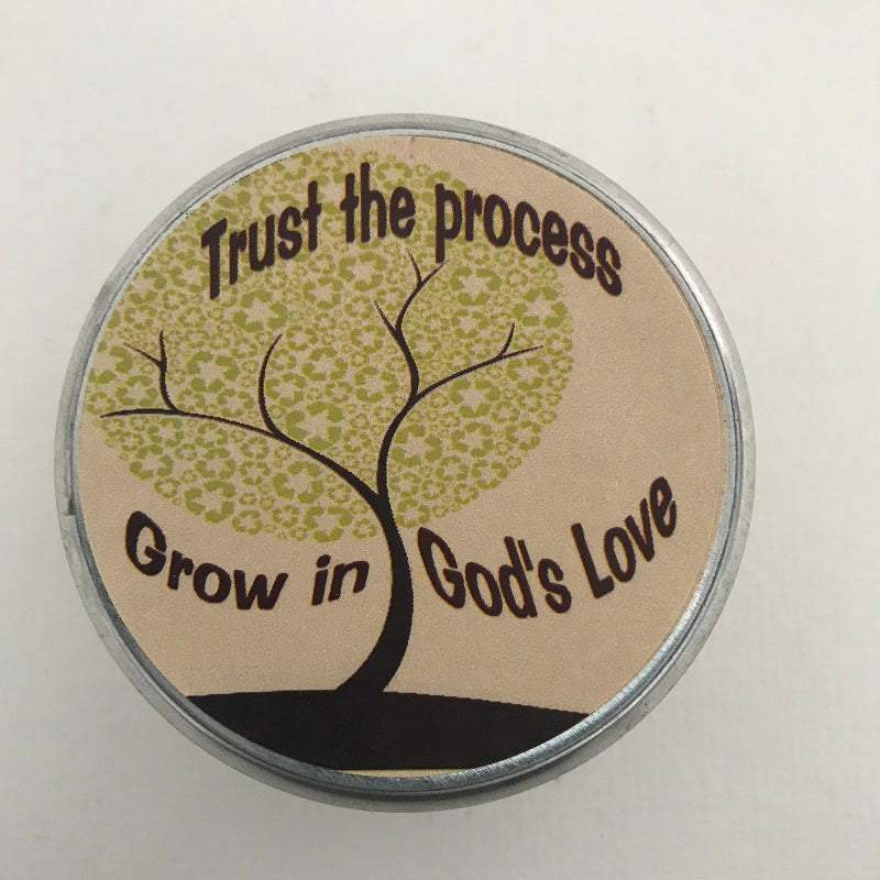 Grow in God's Love Inspirational Candle | Pearberry Scented Candle-Chickenmash Farm