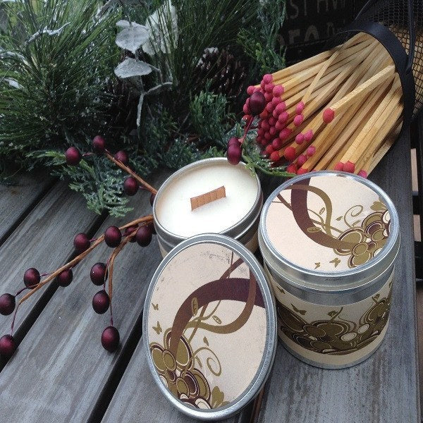 Warm Gingerbread Wood Wick Soy Candle-Chickenmash Farm