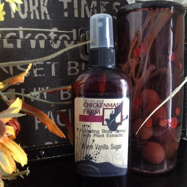 Warm Vanilla Sugar Hydrating Body Spray-Chickenmash Farm