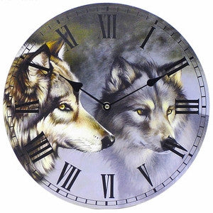 Wolves Wall Clock - dillcourtsimages