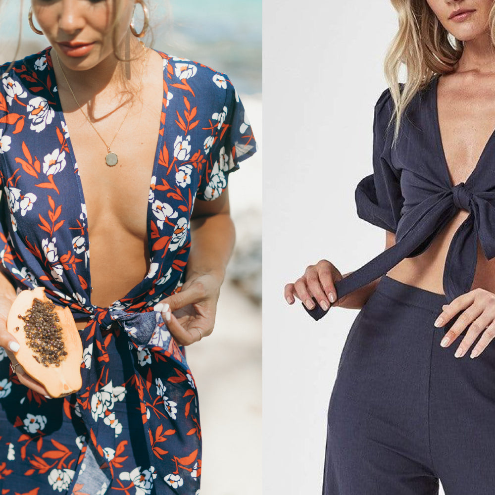 STYLE Tips + Tricks: How to tie a knot and hide your bra