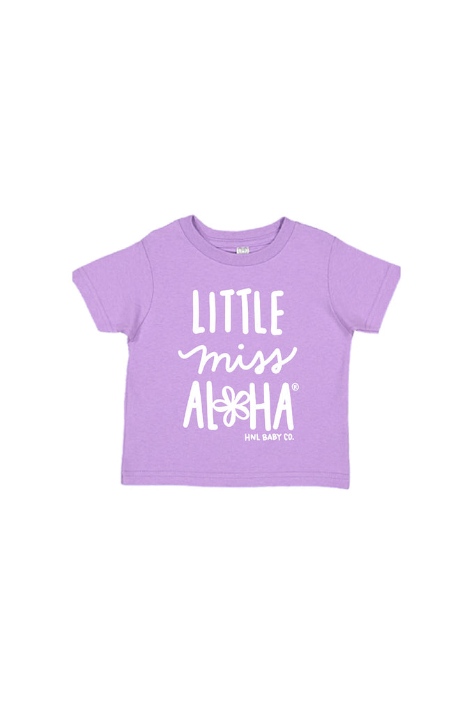 Honolulu Baby Co. - Little Miss Aloha® Tee in Lavender, Kids Top at Kira Hawaii