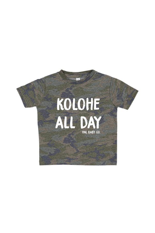 Honolulu Baby Co. - Kolohe All Day Tee in Camo, Kids Top at Kira Hawaii
