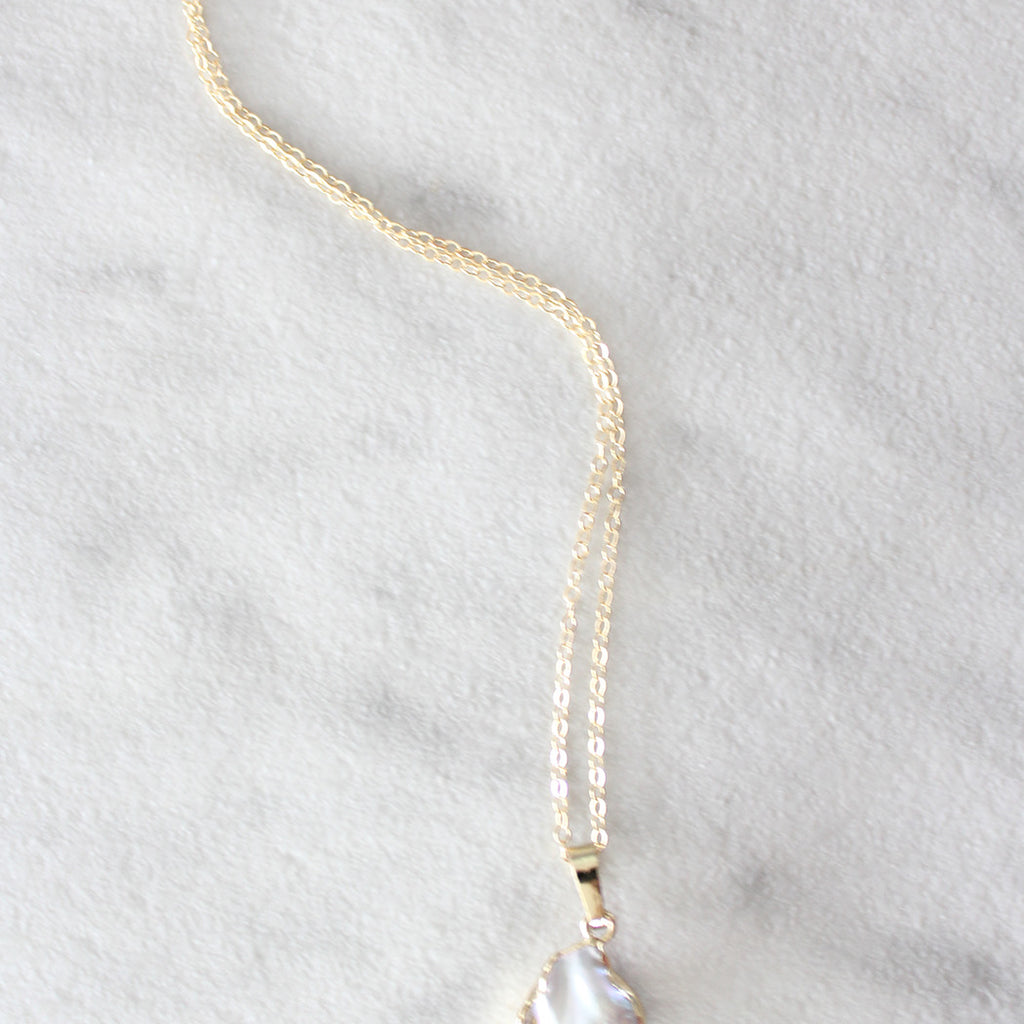 Kira Hawaii - Pearl Coin Necklace, Jewelry at Kira Hawaii