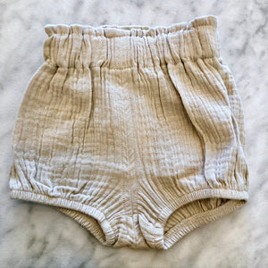 Kira Hawaii  - High Waisted Bloomers, KH Kids | Tan / 3-6M