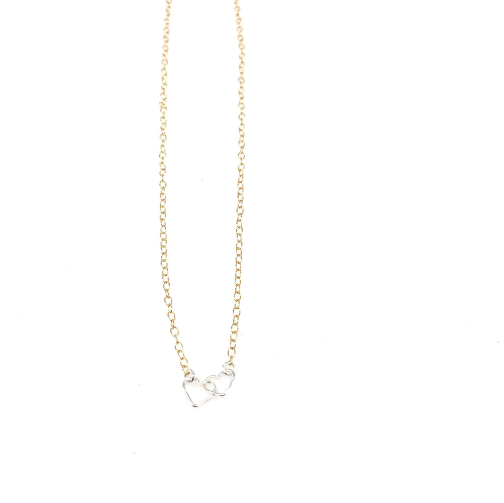 "Kira Hawaii  - Heart To Heart Necklace | 15"" / 14k Gold Filled"