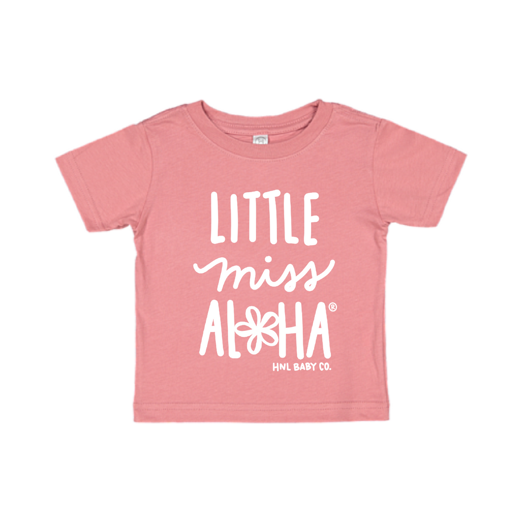 Honolulu Baby Co. - Little Miss Aloha® Plumeria Tee in Pink at Kira Hawaii
