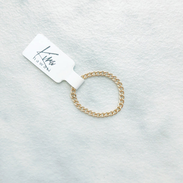 Kira Hawaii  - Chain Ring | 14k gold fill / 4.75