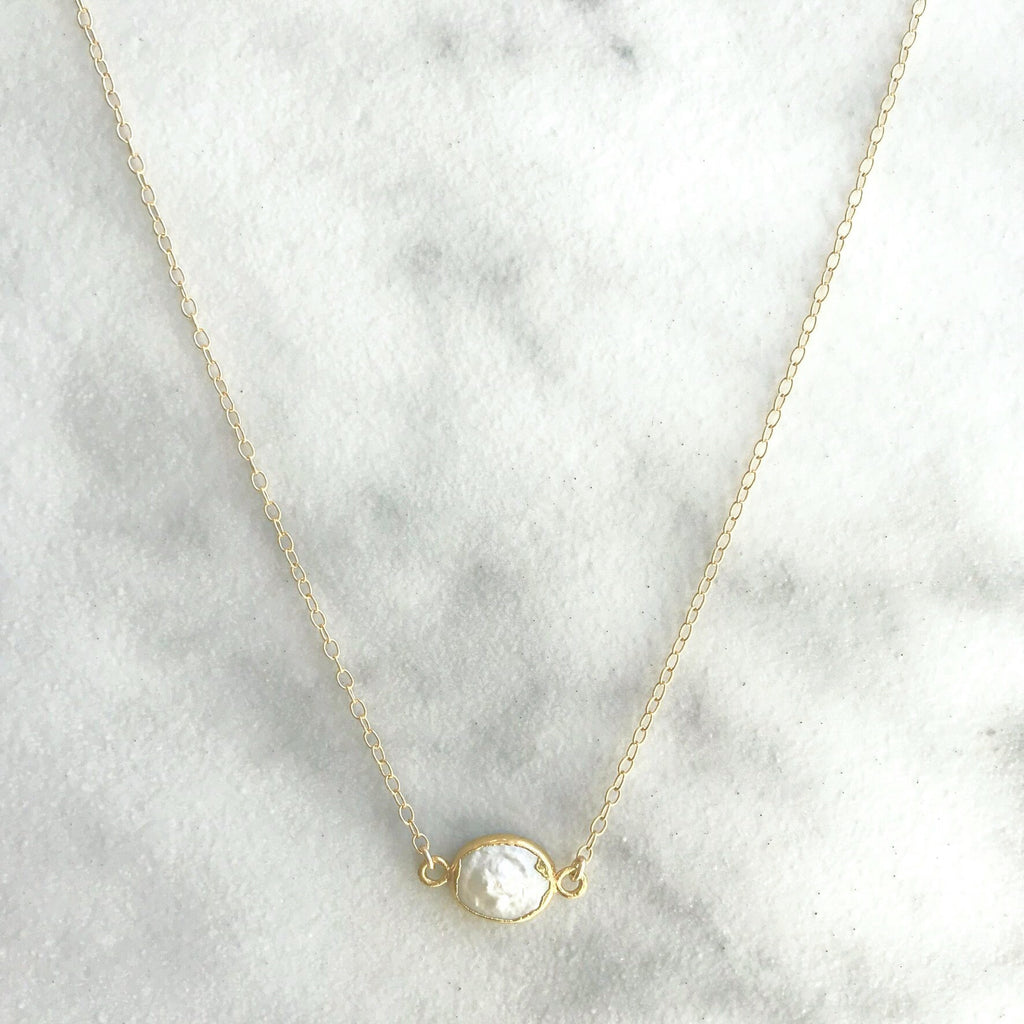 Kira Hawaii  - Mother Of Pearl Necklace | 14k Gold Filled / 16""