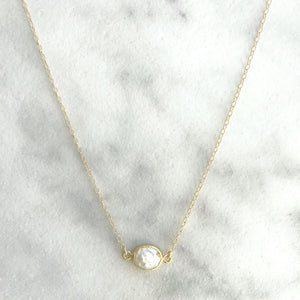 Kira Hawaii  - Mother Of Pearl Necklace, Kira Hawaii Jewelry | 14k Gold Filled / 16""