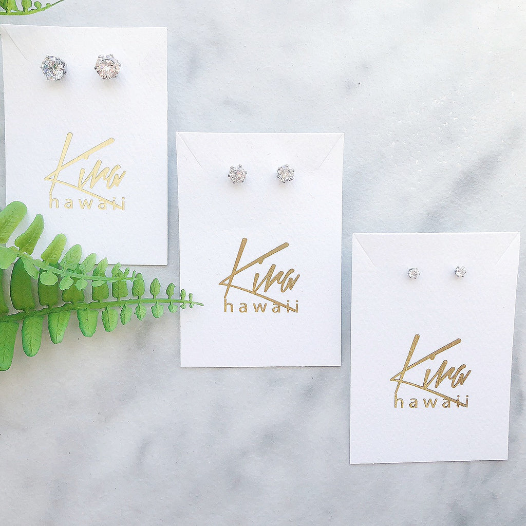Kira Hawaii - Surgical Steel CZ Studs, Jewelry at Kira Hawaii