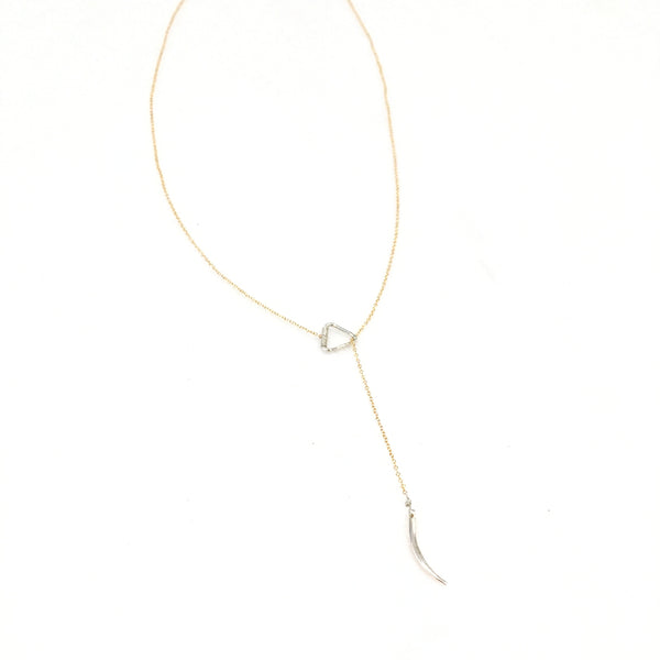 Tusk Lariat Necklace
