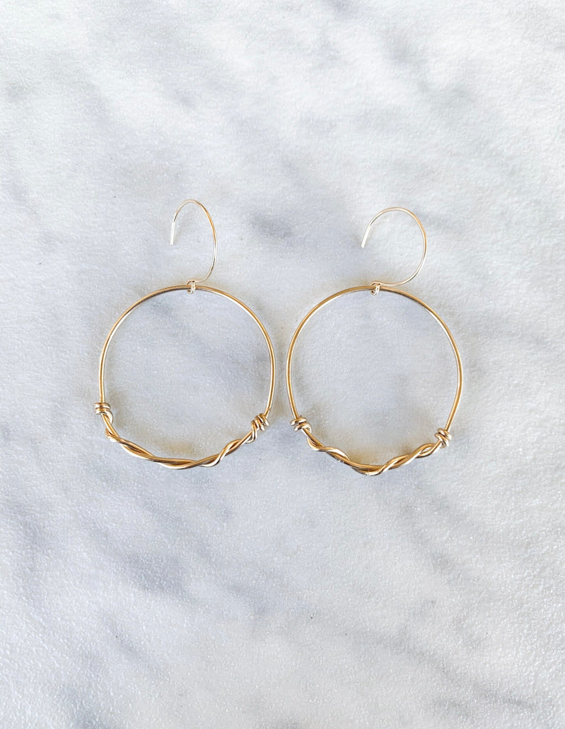 Kira Hawaii  - Wired Hoops | 14k Gold Filled