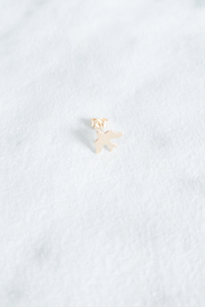 Kira Hawaii - Swallow Stud- 14k Yellow Gold, Jewelry at Kira Hawaii