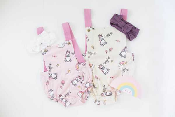 Milk + Cereal - Magical Unicorn Romper, Kids Onesie/Romper at Kira Hawaii