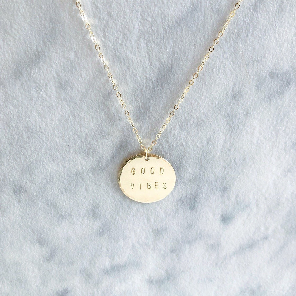 Kira Hawaii  - Custom Stamp Necklace | Disc / Sterling Silver