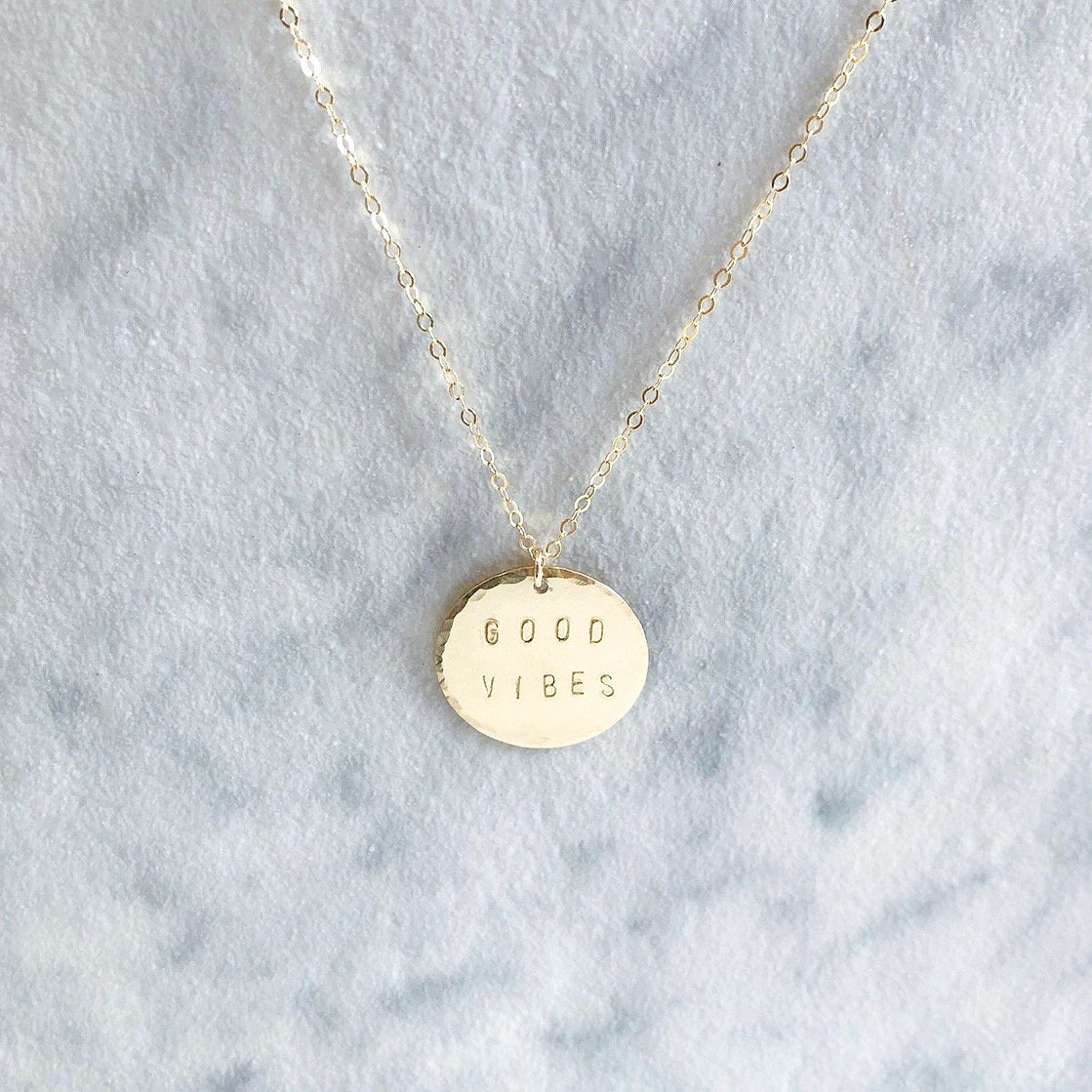 Kira Hawaii  - Custom Stamp Necklace, Kira Hawaii Jewelry | Disc / Sterling Silver