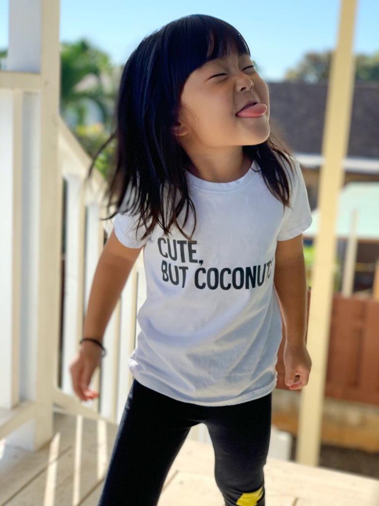 Kira Hawaii Graphics - Cute, But coconuts- White Onesie/Tee at Kira Hawaii