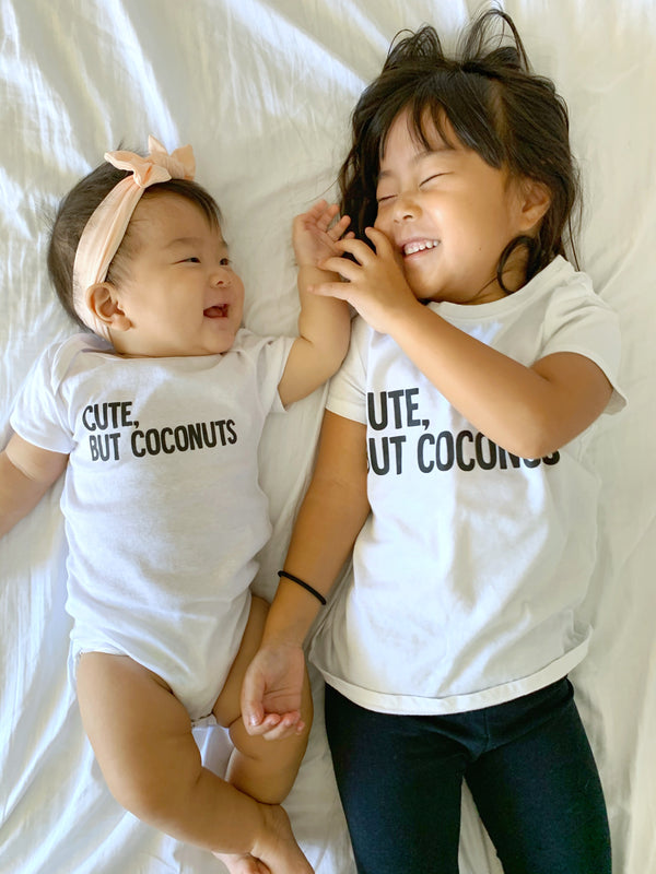 Kira Hawaii Graphics - Cute, But coconuts- White Onesie/Tee, Kids Onesie/Romper at Kira Hawaii
