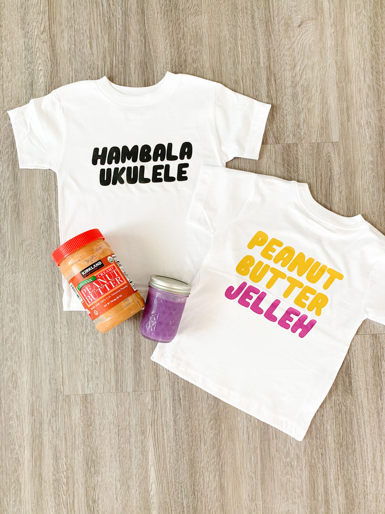 Kira Hawaii Graphics - Hambala Ukulele Peanut Butter Jelleh, Kids Top at Kira Hawaii