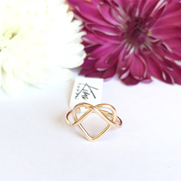 Kira Hawaii  - Love You Knot Ring, Kira Hawaii Jewelry | 14k Gold Filled / 3