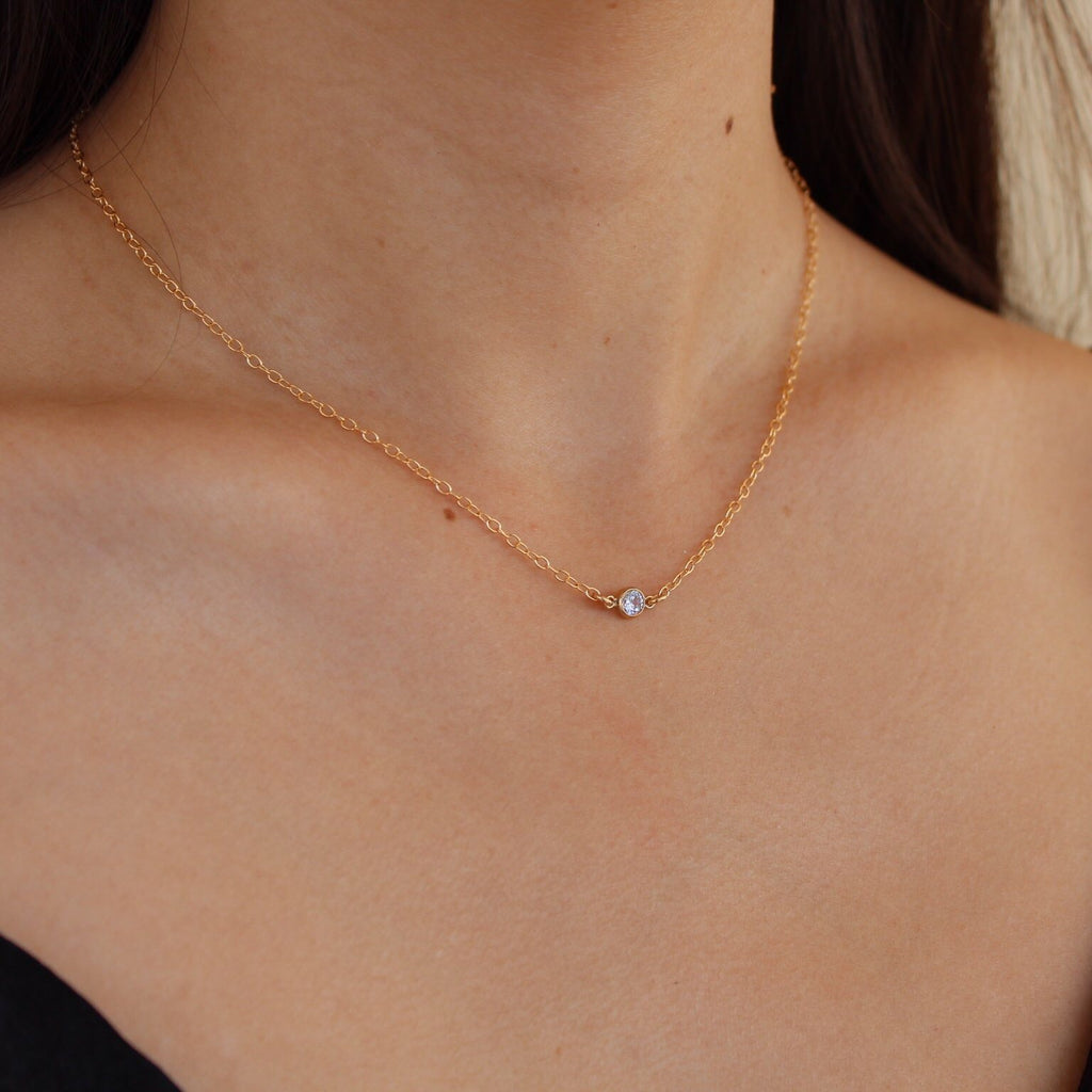 Kira Hawaii  - Poppy Necklace | 14K ROSE GOLD FILLED / 15.5""