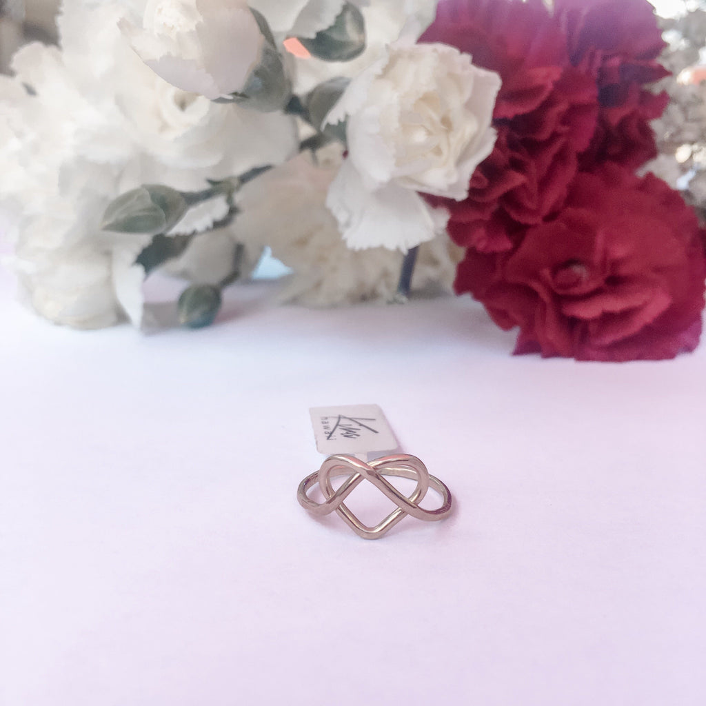 Kira Hawaii  - Love You Knot Ring | 14k Rose Gold Filled / 3