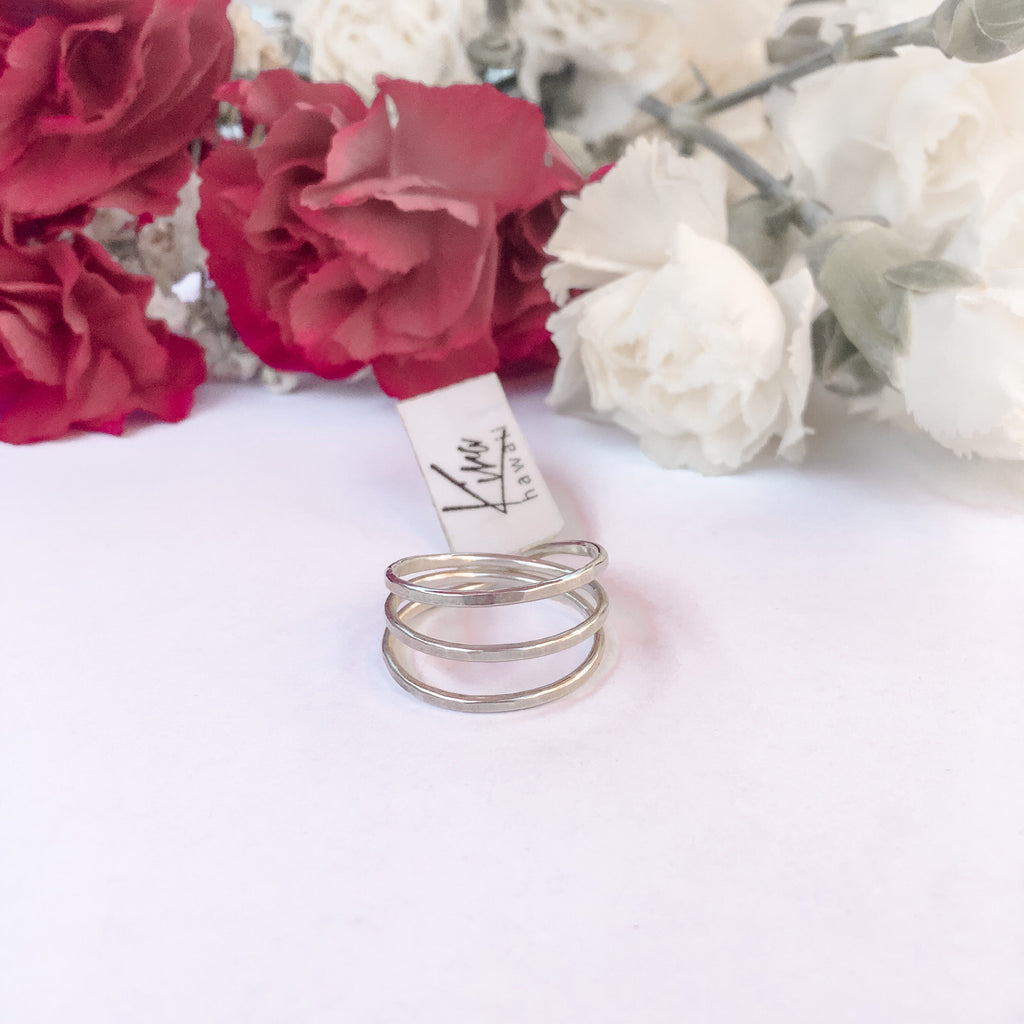Kira Hawaii  - Three Wishes Ring | Argentium Silver / 3