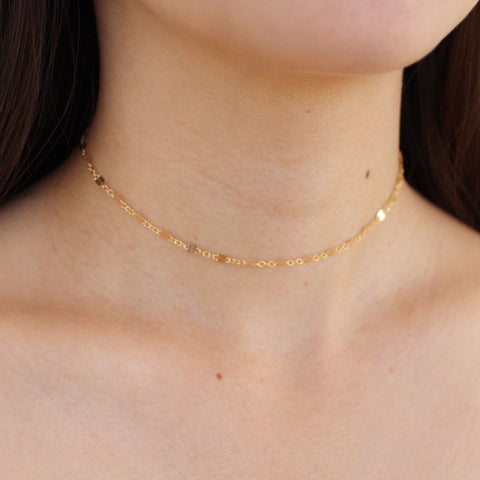 "Kira Hawaii  - Ami Choker, Kira Hawaii Jewelry | 14k Gold Filled / 11"" + 2"" ext"