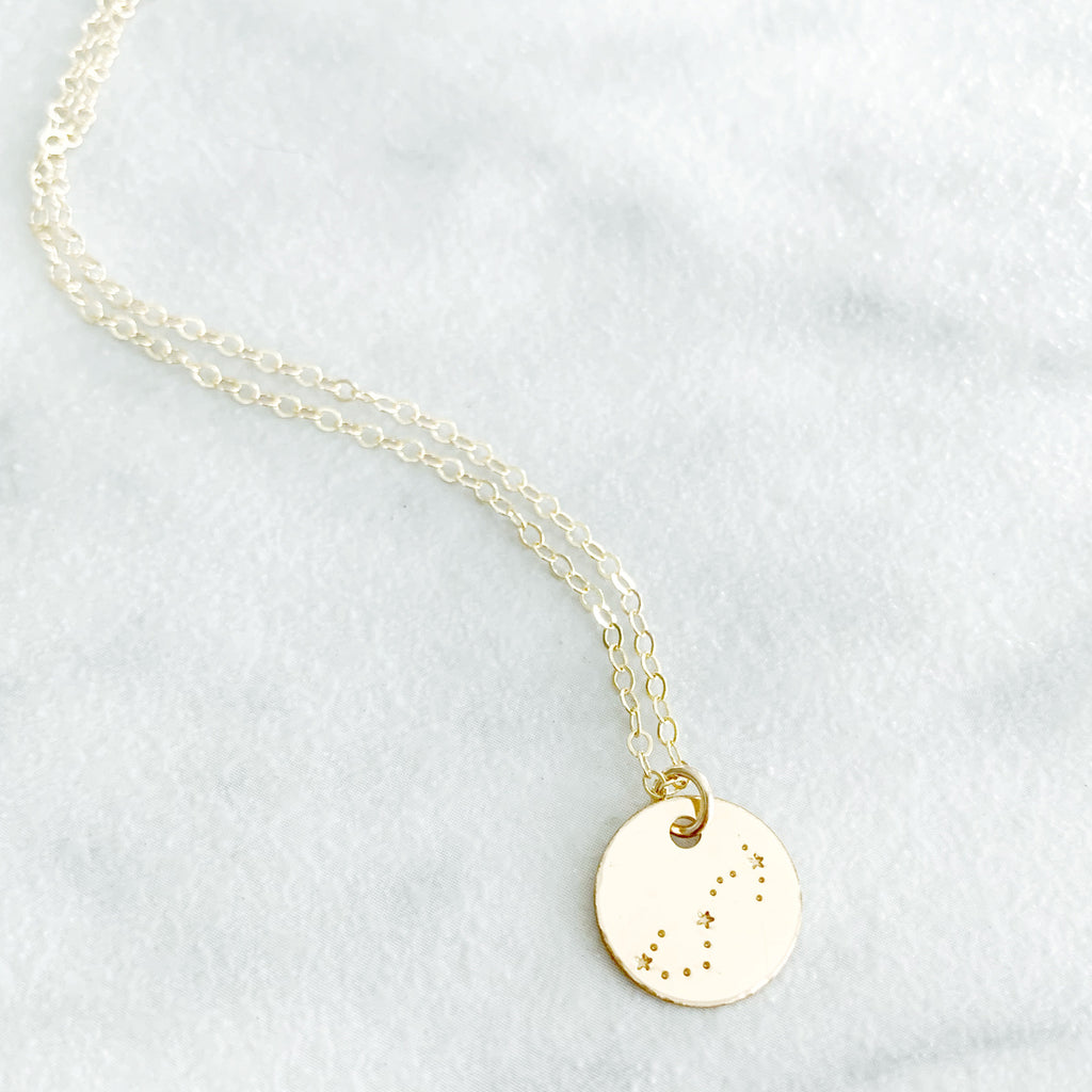 Kira Hawaii - Custom Zodiac Star Sign Disc Necklace, Jewelry at Kira Hawaii