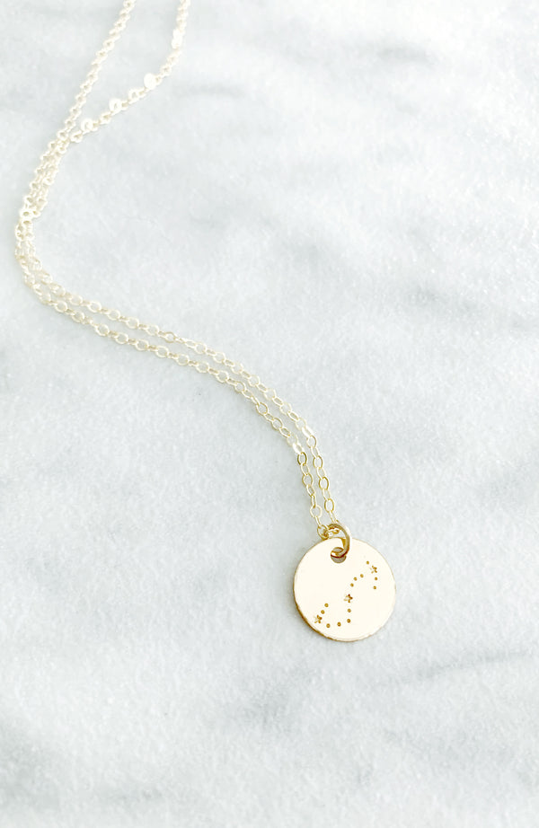 Kira Hawaii - Custom Zodiac Star Sign Disc Necklace at Kira Hawaii