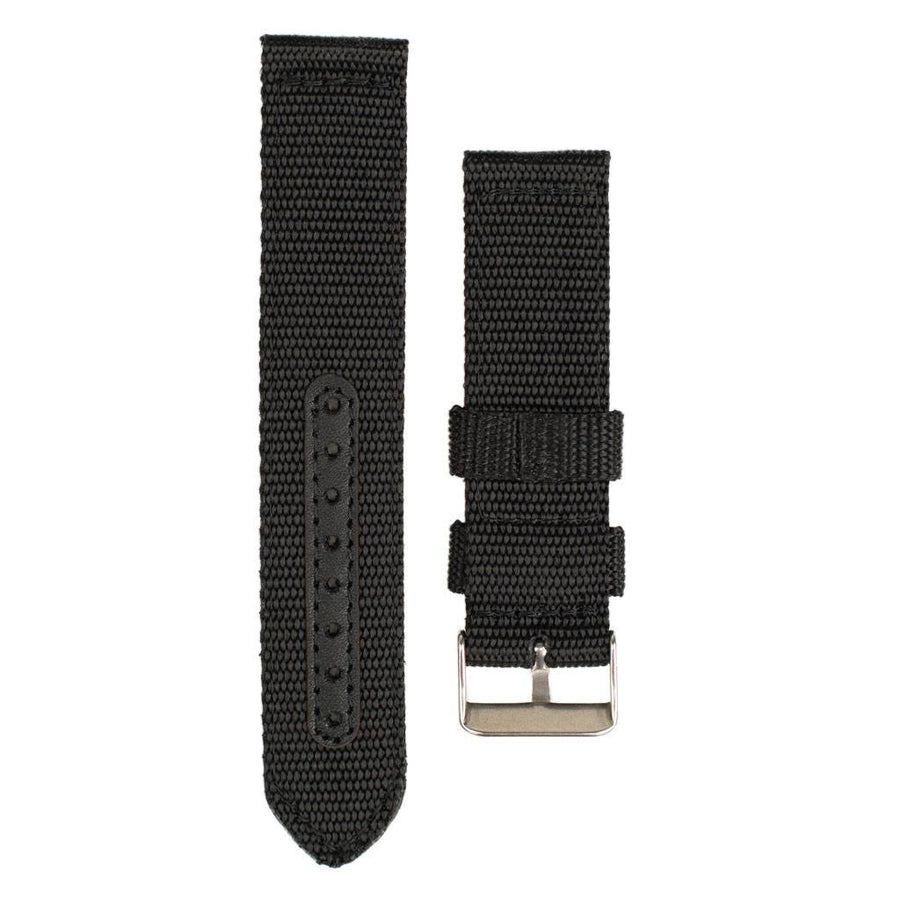 Woodzee Black Nylon Watch Band - Watch Accessories - Woodzee
