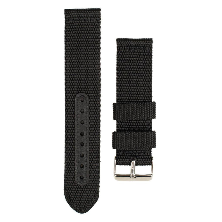 Black nylon band for Woodzee Wood Watch
