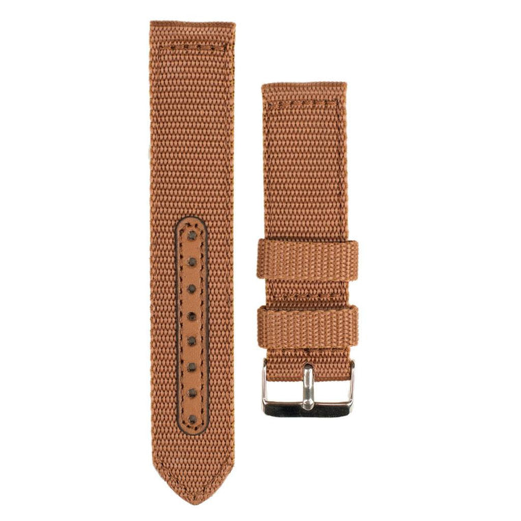 Brown Nylon Watch Band