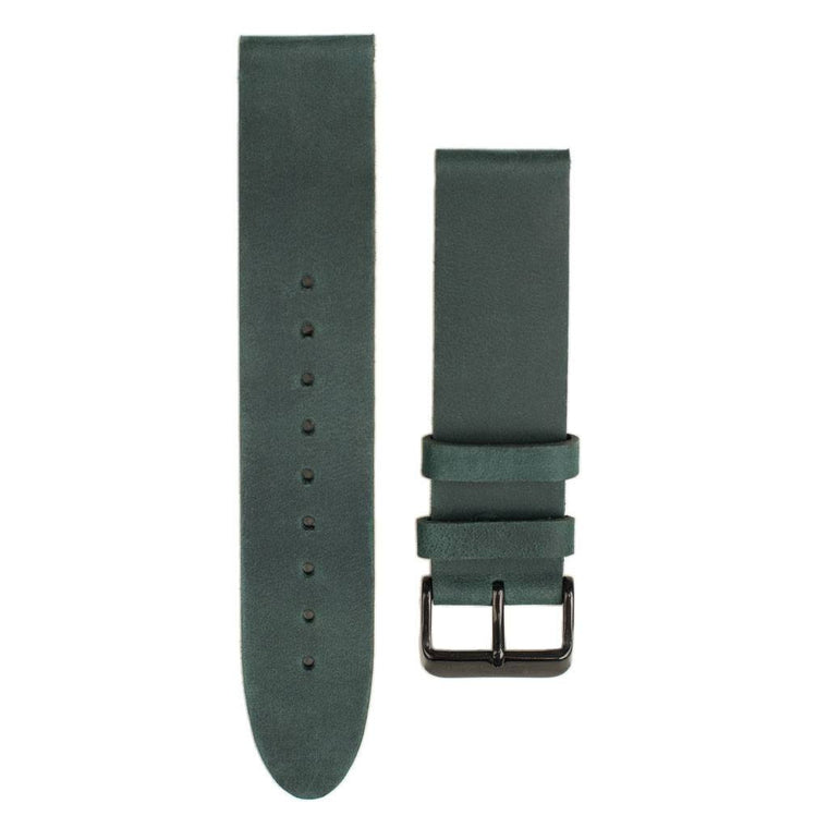 Green Leather Watch Band for Woodzee Wood Watches