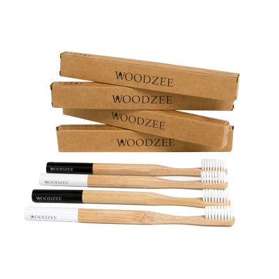 Woodzee Bamboo Toothbrush Pack - Accessories - Woodzee