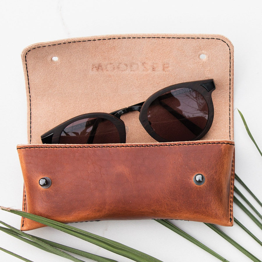 Woodzee Handmade Leather Case - Sunglasses Accessories - Woodzee