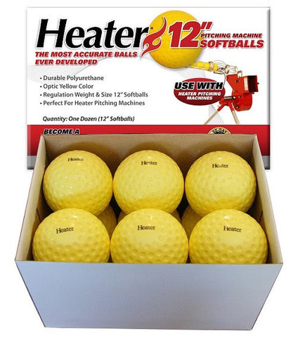 Heater Sports 11 In. Real Softballs (1 Dozen) - Wheel House Pitching Machines