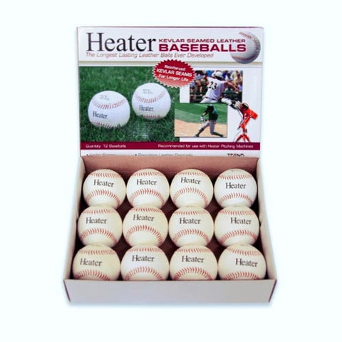 Heater Sports Leather Real Balls (1 Dozen) - Wheel House Pitching Machines