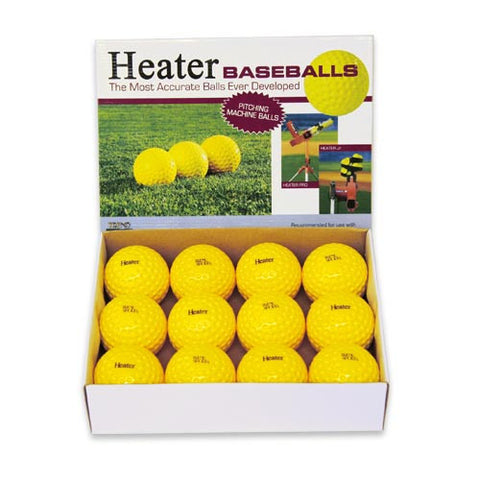 Heater Sports Dimpled Real Balls (1 Dozen) - Wheel House Pitching Machines