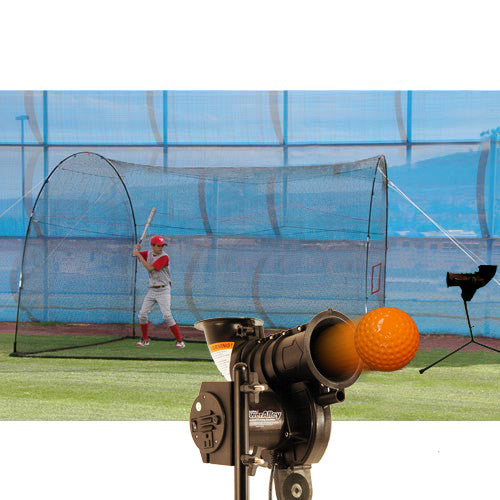 Heater Sports PowerAlley Lite & HomeRun Cage - Wheel House Pitching Machines