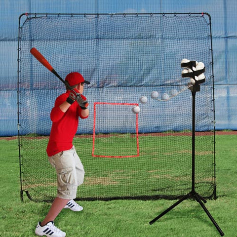 Heater Sports Big League Drop Toss & Big Play Sports Net - Wheel House Pitching Machines