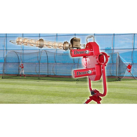 Heater Sports Deuce Machine & Xtender 36 Ft. Cage - Wheel House Pitching Machines
