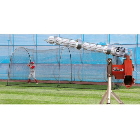 Heater Sports Jr. Machine & Xtender 24' Cage - Wheel House Pitching Machines