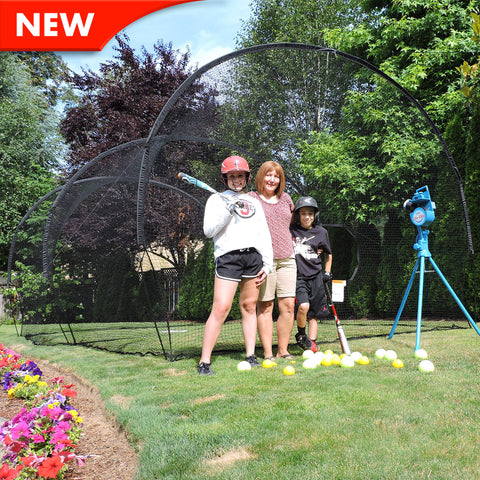 JUGS Lite-Flite® Backyard Net Packages Baseball/Softball - Wheel House Pitching Machines - 1