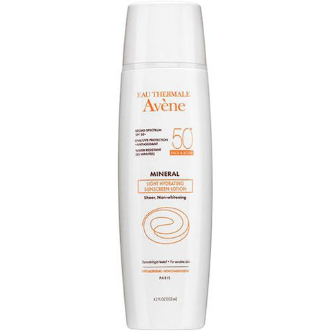 Avene Mineral Light Hydrating Sunscreen Lotion SPF50+ Face & Body 4.2oz