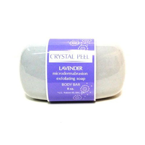 Crystal Peel Lavender Microdermabrasion Exfoliating Soap Body Bar 8oz